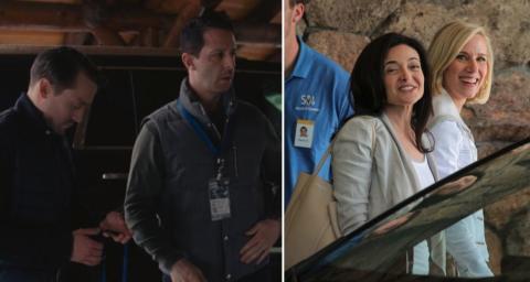 Roman y Kendall Roy contra Sheryl Sandberg y Marne Levine de Facebook.