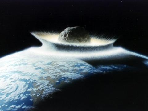 Colisión de un asteroide contra la Tierra