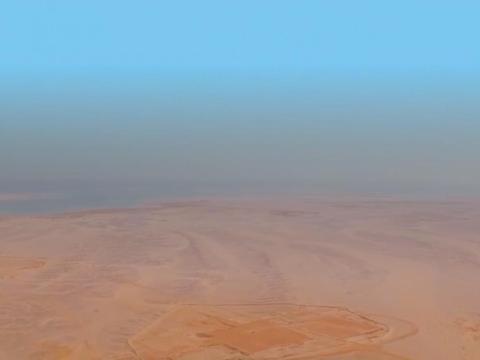 El sitio desértico en la provincia de Tabuk que albergará a Neom.