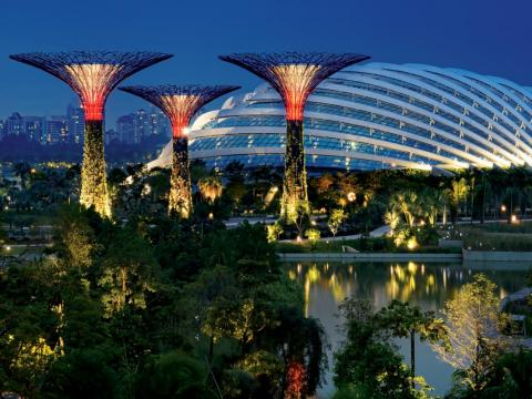 Singapore's Gardens by the Bay, diseñado por Grant Associates y Wilkinson Eyre Architects.