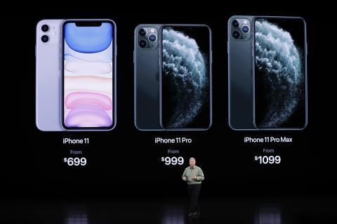 Comparativa de los nuevos iPhone 11 en la keynote de Apple.