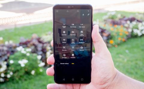 Opciones de la cámara del LG V50