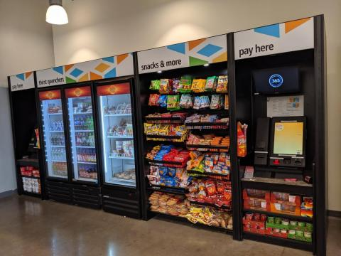The options are largely processed snacks and the kind of junk food you'd find at a 7-Eleven: instant ramen, a variety of chips and candy, and frozen meals. The options weren't great.