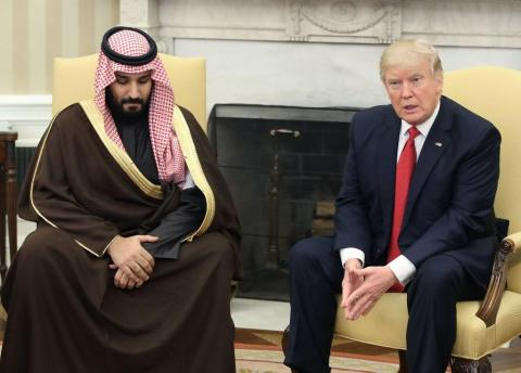 President Donald Trump and Mohammed bin Salman in the Oval Office at the White House in March 2017.