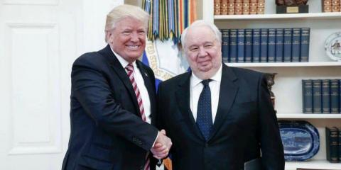 President Donald Trump meets with Russian Ambassador Sergei Kislyak.