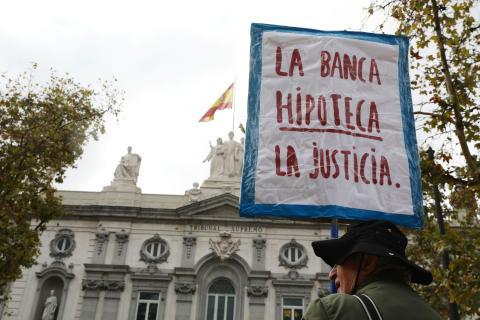 Una protesta frente al Tribunal Supremo en Madrid.