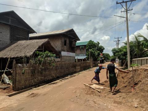 Rápidamente volví a sentir que estaba en Myanmar.