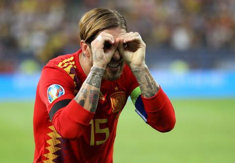 Ramos en el partido que enfrentó a las selecciones de Rumanía y España el pasado 5 de septiembre.