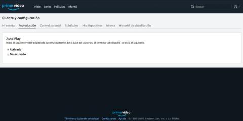 Recupera el control al desactivar la reproducción automática Amazon Prime