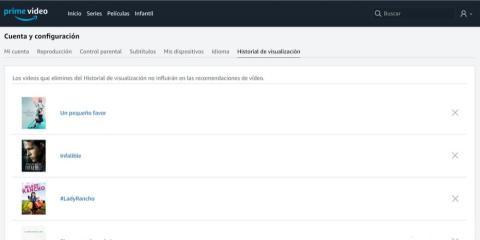 Revisa tu historial para saber qué ven tus hijos en Amazon Prime Video España
