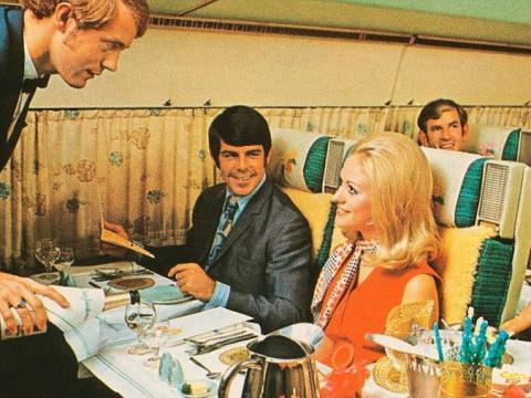 Un vuelo de Air New Zealand en los 60.