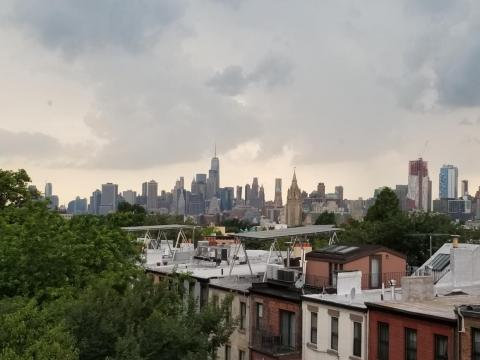 The view from Sabatier's window.