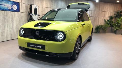 El eléctrico urbano Honda e también fue presentado en el Salón de Frankfurt 2019.