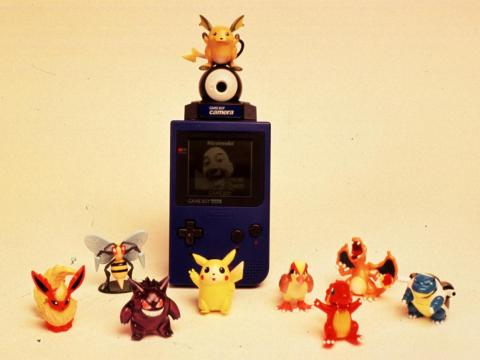 Nintendo Game Boy Camera & Pokemon action figures