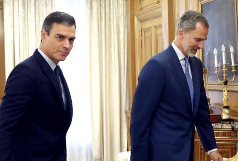 Sánchez se reúne con el rey.