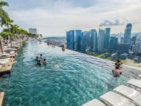 El hotel Marina Bay Sands en Singapur.