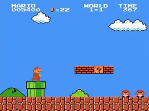 Un pantallazo de súper Mario.