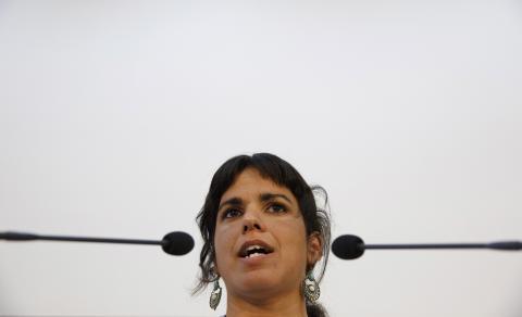 Teresa Rodríguez, líder de Podemos en Andalucía, en 2015.