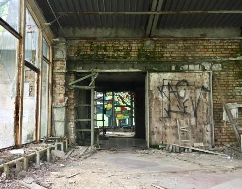 Un edificio abandonado en Pripyat.