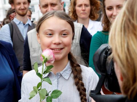 Greta Thunberg in Vienna, Austria, May 2019.