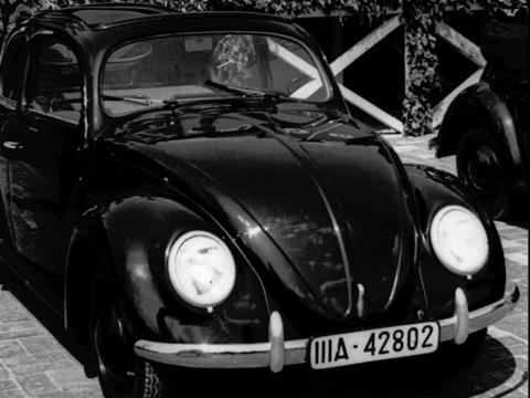 Una foto del famoso Beatle de Volkswagen.
