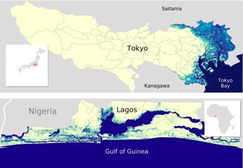 La Bahía deTokyo y Lagos también podrían verse afectadas.