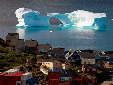 La ciudad de Kulusuk en el este de Groenlandia.