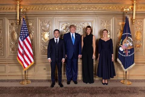 Ukrainian President Volodymyr Zelensky and US President Donald Trump meet in New York on Wednesday.
