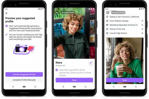 Unsurprisingly, Facebook Dating allows users to automatically fill in their profiles will information from their Facebook profile. It's something that other dating apps have done before, both to make it easy to get started, and to