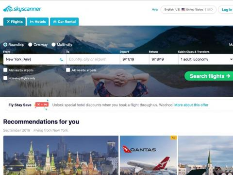 Use the website Skyscanner to find the lowest fares