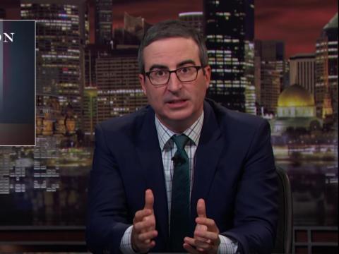 "John Oliver hosts ""Last Week Tonight."""