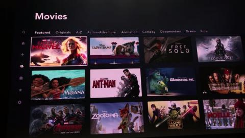 When you visit the Movies tab, you can filter by originals, alphabetical order, or genre. By default, Disney will show you featured films it wants you to see.