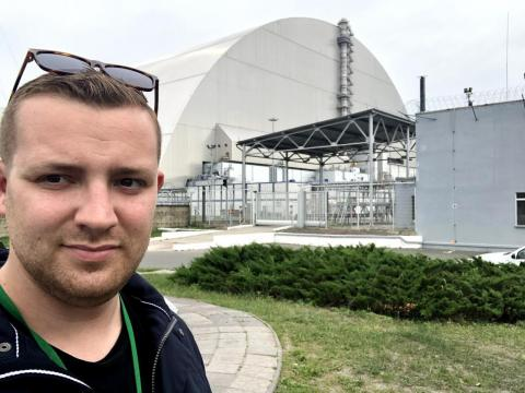 While on a tour of Chernobyl, you can't touch the ground, you have to wear long pants, and being aware of buildings on the verge of collapse is a must.