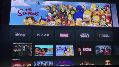 """You can scroll along the top to see featured items, including new movies like """"Captain Marvel"""" and fan favorites like """"The Simpsons."""""""