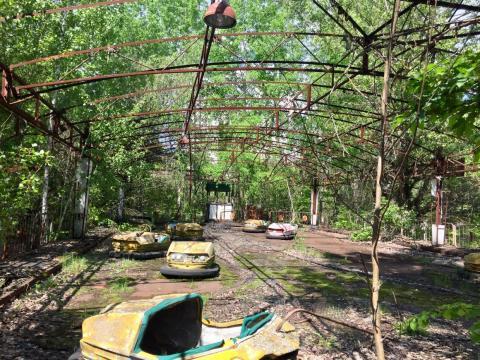 El parque de atracciones en Pripyat.