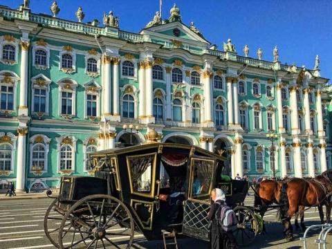 El Museo Hermitage de San Petersburgo es el museo más visitado de Rusia.