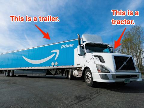 Amazon has had truck trailers since 2015. But tractors are new.