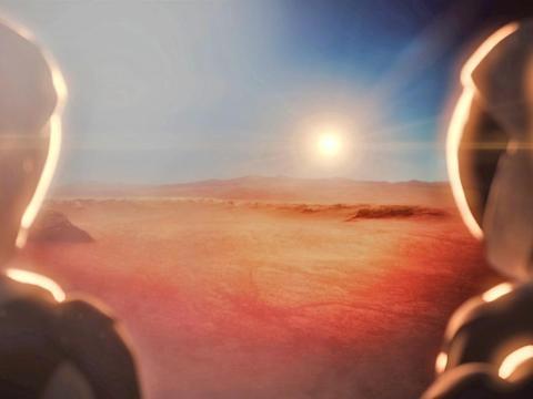 Una ilustración del futuro de los viajes espaciales de SpaceX.