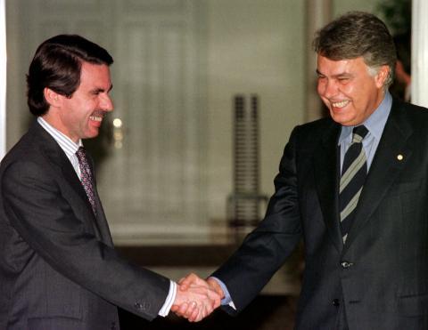 Aznar y Felipe González
