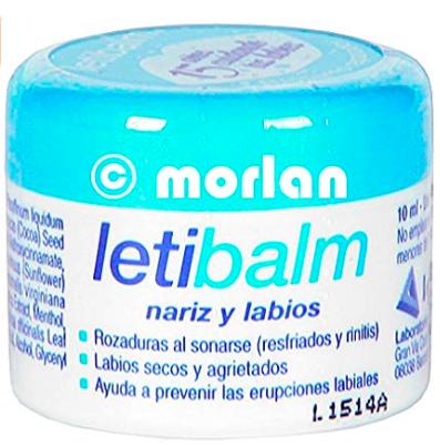 Bálsamo reparador de labios Letibalm.