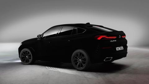 BMW X6 negro Vantablack