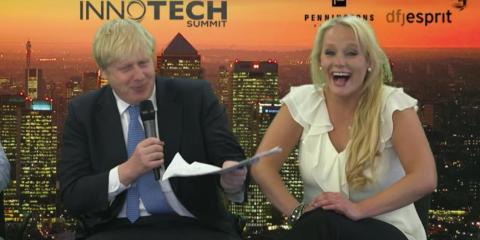 Boris Johnson y Jennifer Arcuri