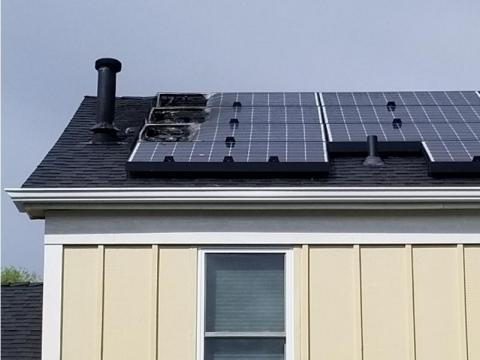 Briana Greer's Colorado home after her Tesla solar panels caught fire on August 1.