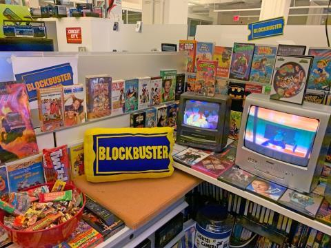 Reproducción de clásicos en VHS en el Blockbuster