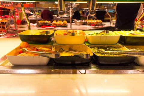 Un buffet en un crucero