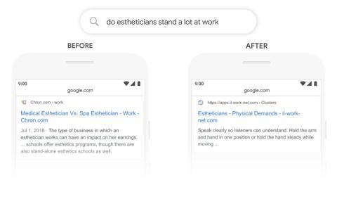 Búsqueda con BERT de Google