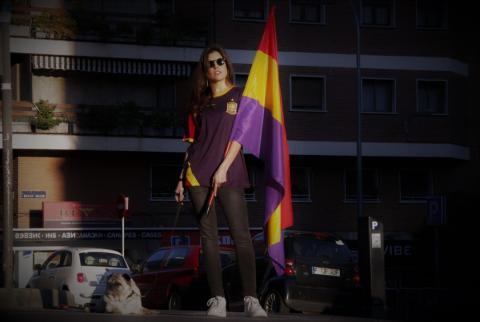 Camiseta de fútbol de la República española.