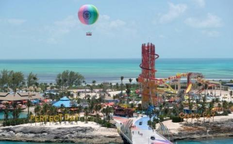 Coco Cay, la isla privada de Royal Caribbean en El Caribe.