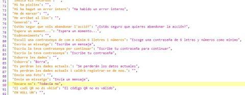 Código fuente de la app de Tsunami Democràtic.