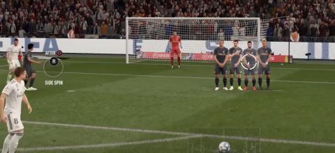 Cómo lanzar faltas de FIFA 20 por debajo de la barrera